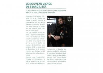 Les Nouvelles Esthétiques – Annonce Partenariat Beardilizer x Olivier Giroud
