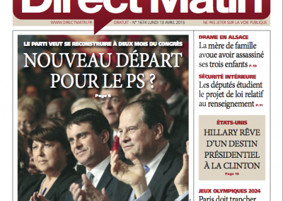 Couverture Direct Matin 13.04.15