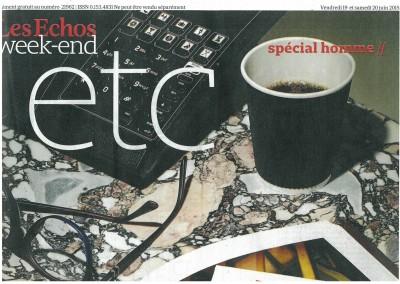Couverture Les Echos - week end 19.06.15