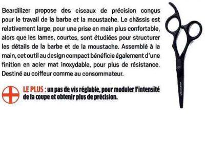 L'Eclaireur – Ciseaux Barbe et Moustache Beardilizer