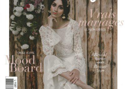 Couverture Wedding Magazine Juin-Août 2018